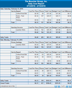 Daily Cost Report